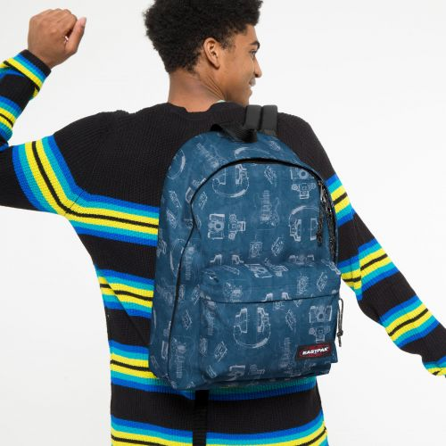Out Of Office Patent Blue Backpacks by Eastpak - view 0