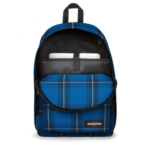 Out Of Office Checked Blue Backpacks by Eastpak