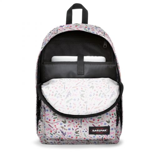 Out Of Office Herbs White Backpacks by Eastpak