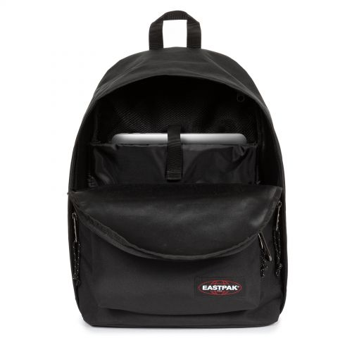 Out Of Office Black Snap Backpacks by Eastpak