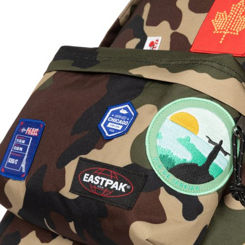 Out Of Office Patched Camo Backpacks by Eastpak