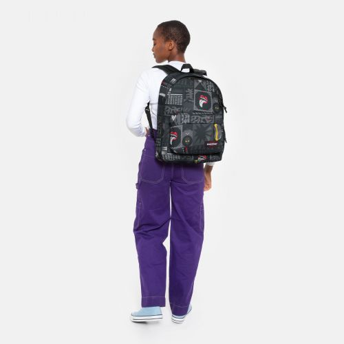Out Of Office Wall Art Black Backpacks by Eastpak