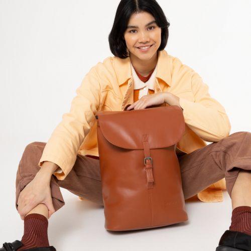 Ciera Brandy Leather Backpacks by Eastpak