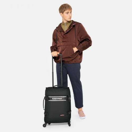 Trans4 S Black Snap Luggage by Eastpak
