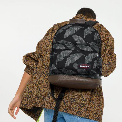 Wyoming Brize Leaves Black Backpacks by Eastpak - view 0
