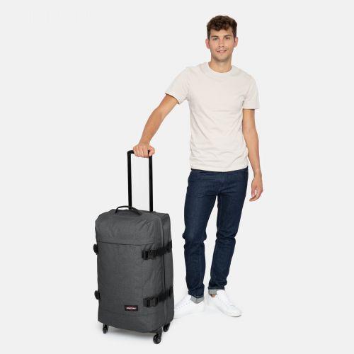 Trans4 M Black Denim Large Suitcases by Eastpak