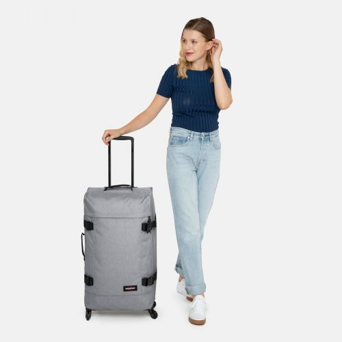 Trans4 L Sunday Grey Large Suitcases by Eastpak