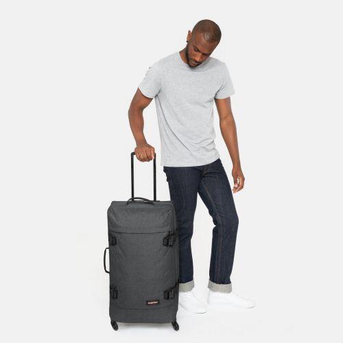 Trans4 L Black Denim Large Suitcases by Eastpak