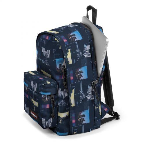 Back To Work Shapes Blue Backpacks by Eastpak