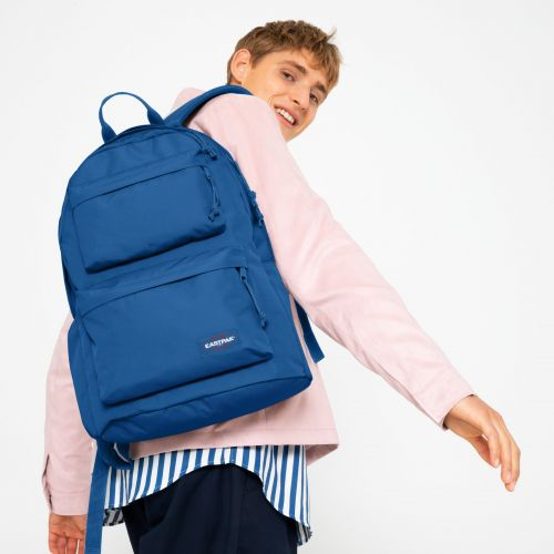 Padded Double Mysty Blue Backpacks by Eastpak