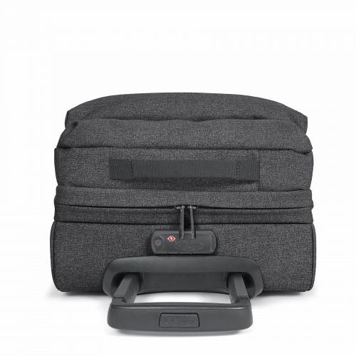 Double Tranverz S Black Denim Luggage by Eastpak