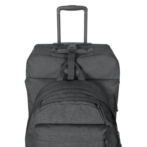 Double Tranverz L Black Denim Luggage by Eastpak
