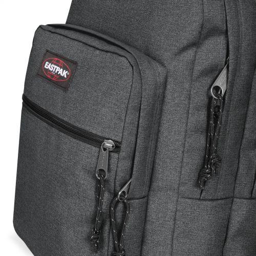 Morius Light Black Denim Backpacks by Eastpak