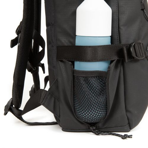 Borys Surfaced Black Backpacks by Eastpak