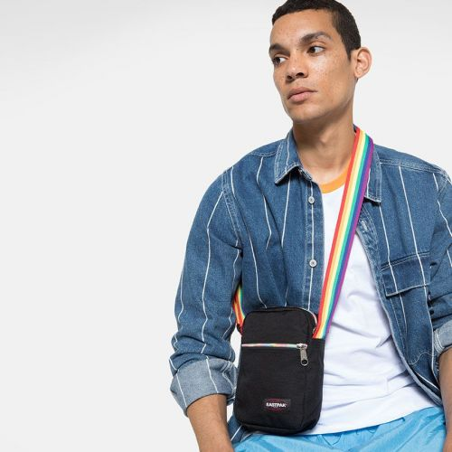 The One Rainbow Black Shoulderbags by Eastpak - Front view