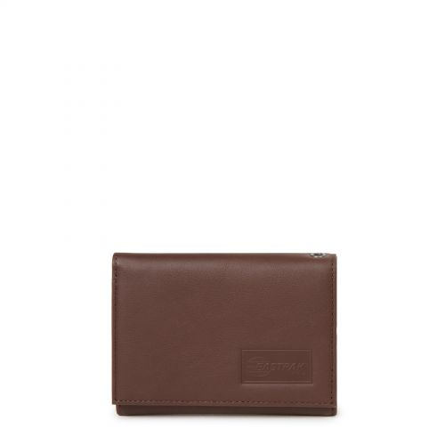 Crew RFID Chestnut Leather by Eastpak - Front view