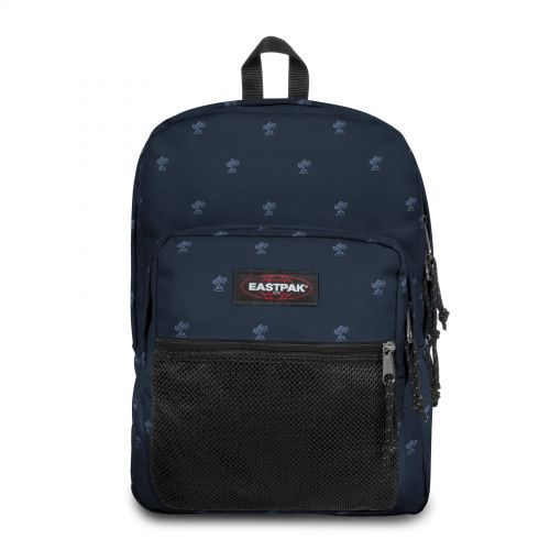 Pinnacle Palm Tree Navy Backpacks by Eastpak - Front view