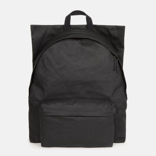 Raf Simons Poster Padded Cotton Couple White Backpacks by Eastpak - Front view