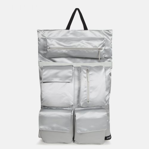 Raf Simons Poster Backpack Satin Couple White Backpacks by Eastpak - Front view