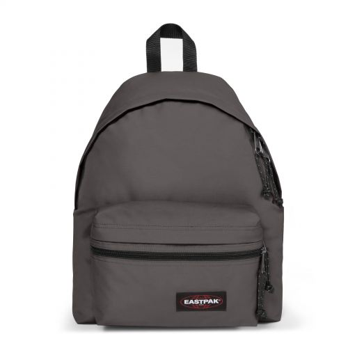 Padded Zippl'r Simple Grey Backpacks by Eastpak - Front view
