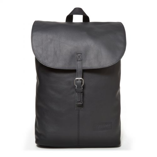 Ciera Black Ink Leather Backpacks by Eastpak - Front view