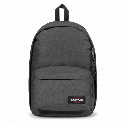 Back To Wyoming Black Denim Backpacks by Eastpak - Front view