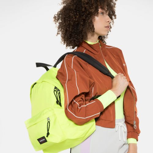 Padded Pak'r® Fluo Yellow Backpacks by Eastpak - Front view
