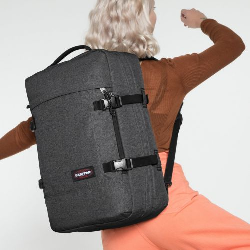 Tranzpack Black Denim Backpacks by Eastpak - view 2