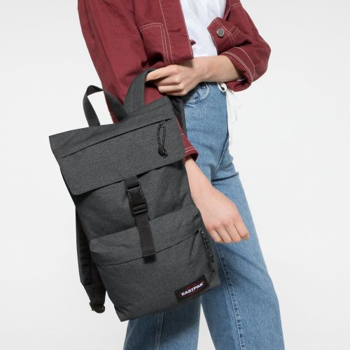 Topher Black Denim Backpacks by Eastpak - Front view