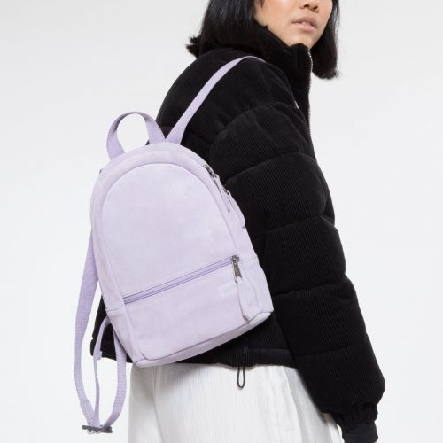 Lucia S Suede Lilac Backpacks by Eastpak - view 2