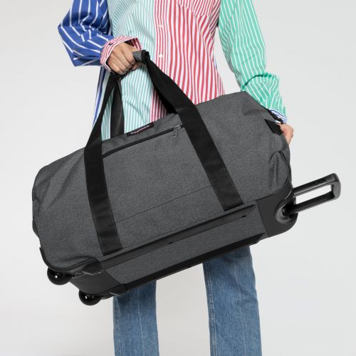 Container 65 + Black Denim Luggage by Eastpak - Front view