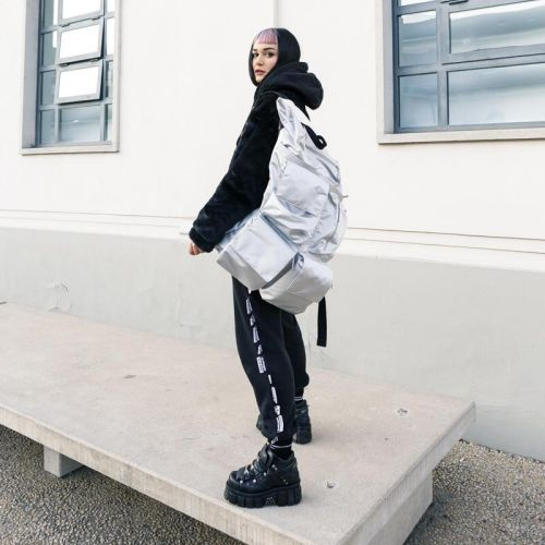 Raf Simons Poster Backpack Satin Couple White Special editions by Eastpak - view 2