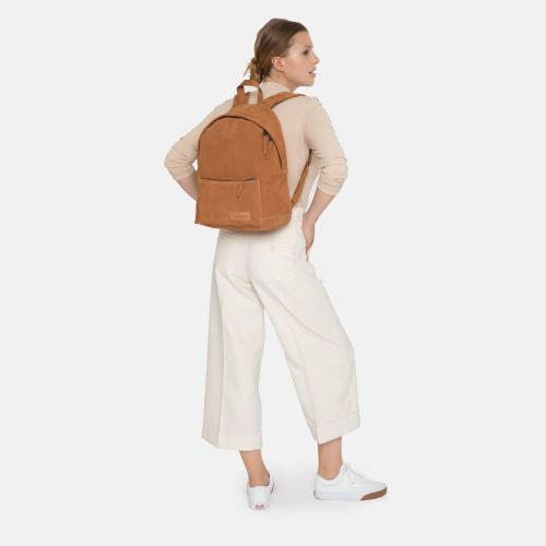 Padded Sleek'r Suede Rust Leather by Eastpak - view 2