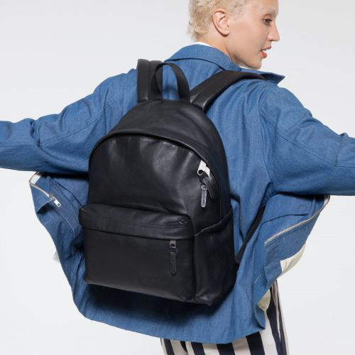 Padded Pak'r® Black Ink Leather Backpacks by Eastpak - view 2