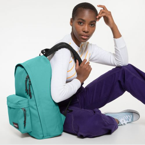 Out Of Office Lagoon Blue Backpacks by Eastpak - view 2