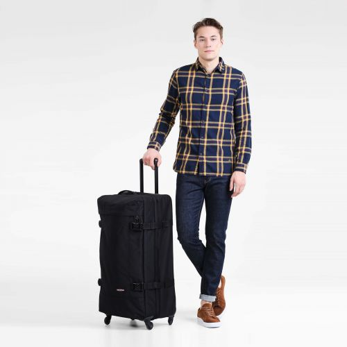 Trans4 XL Black Large Suitcases by Eastpak - view 2
