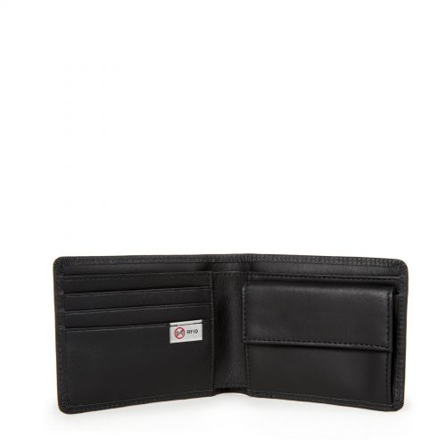Drew RFID Black Ink Leather Wallets & Purses by Eastpak - view 3