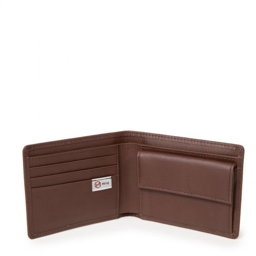 Drew RFID Chestnut Leather Wallets & Purses by Eastpak - view 3