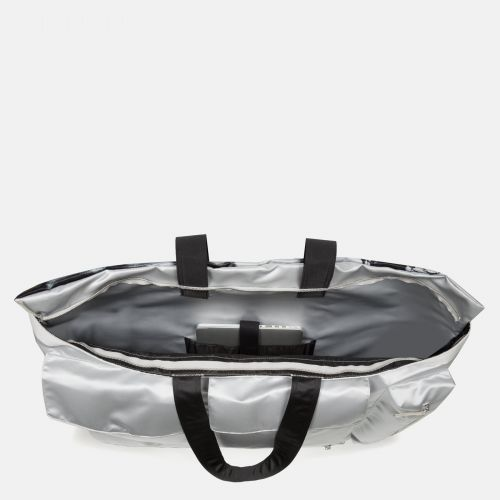 Raf Simons Poster Tote Satin Boy Silver Special editions by Eastpak - view 3