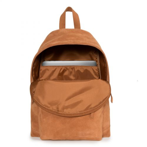 Padded Sleek'r Suede Rust Leather by Eastpak - view 3