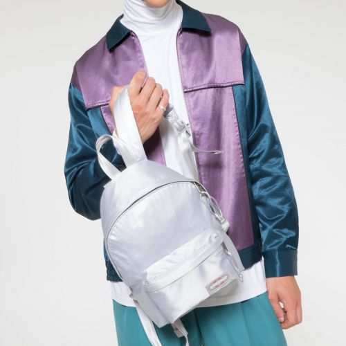 Orbit XS Satin Silver Backpacks by Eastpak - view 5