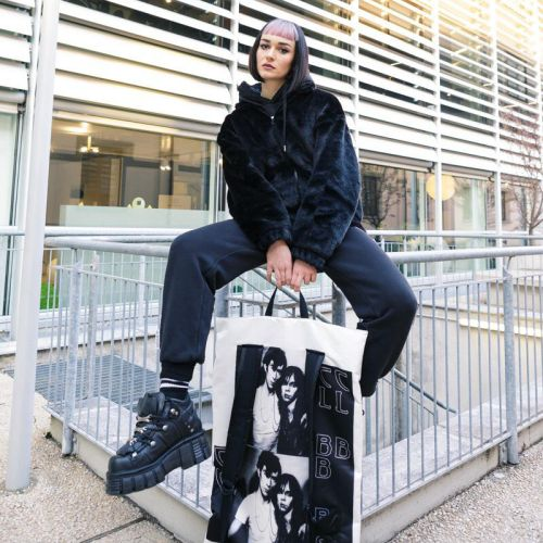 Raf Simons Poster Backpack Satin Couple White Special editions by Eastpak - view 5