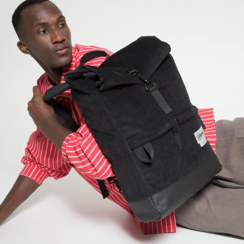 Macnee Cordsduroy Black Backpacks by Eastpak - view 5