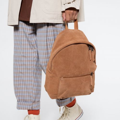Padded Sleek'r Suede Rust Leather by Eastpak - view 5