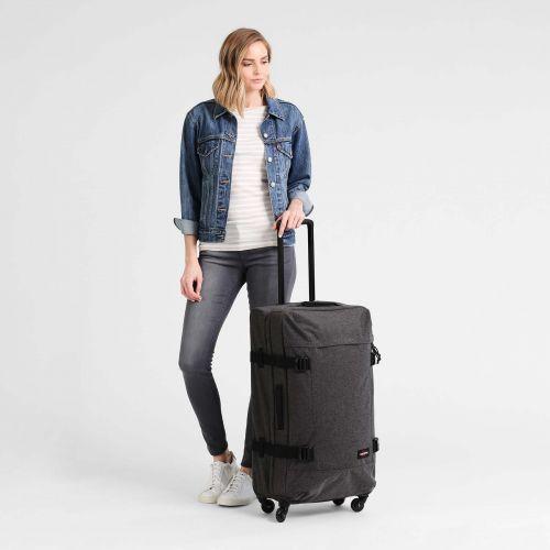 Trans4 L Black Denim Large Suitcases by Eastpak - view 5