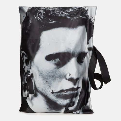 Raf Simons Poster Tote Satin Boy Silver Special editions by Eastpak - view 7