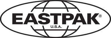 Houston Black Denim Backpacks by Eastpak - Front view